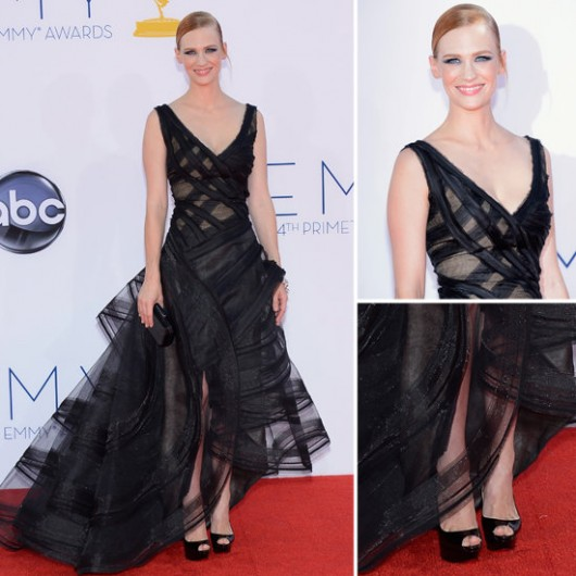 january-jones-zac-posen-emmy-2012