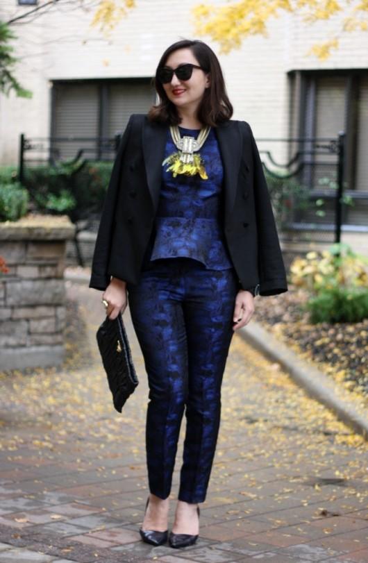blue-jacquard-peplum-suit