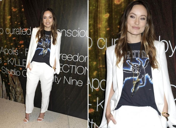 olivia-wilde-white-cape-jacket-h&m-conscious-2015-3