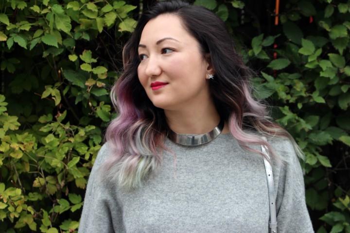 grey-sweater-dress-saucony-pastel-hair-2