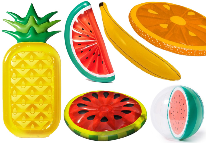 best-inflatable-pool-floats-pineapple-watermelon-orange-banana-fruit