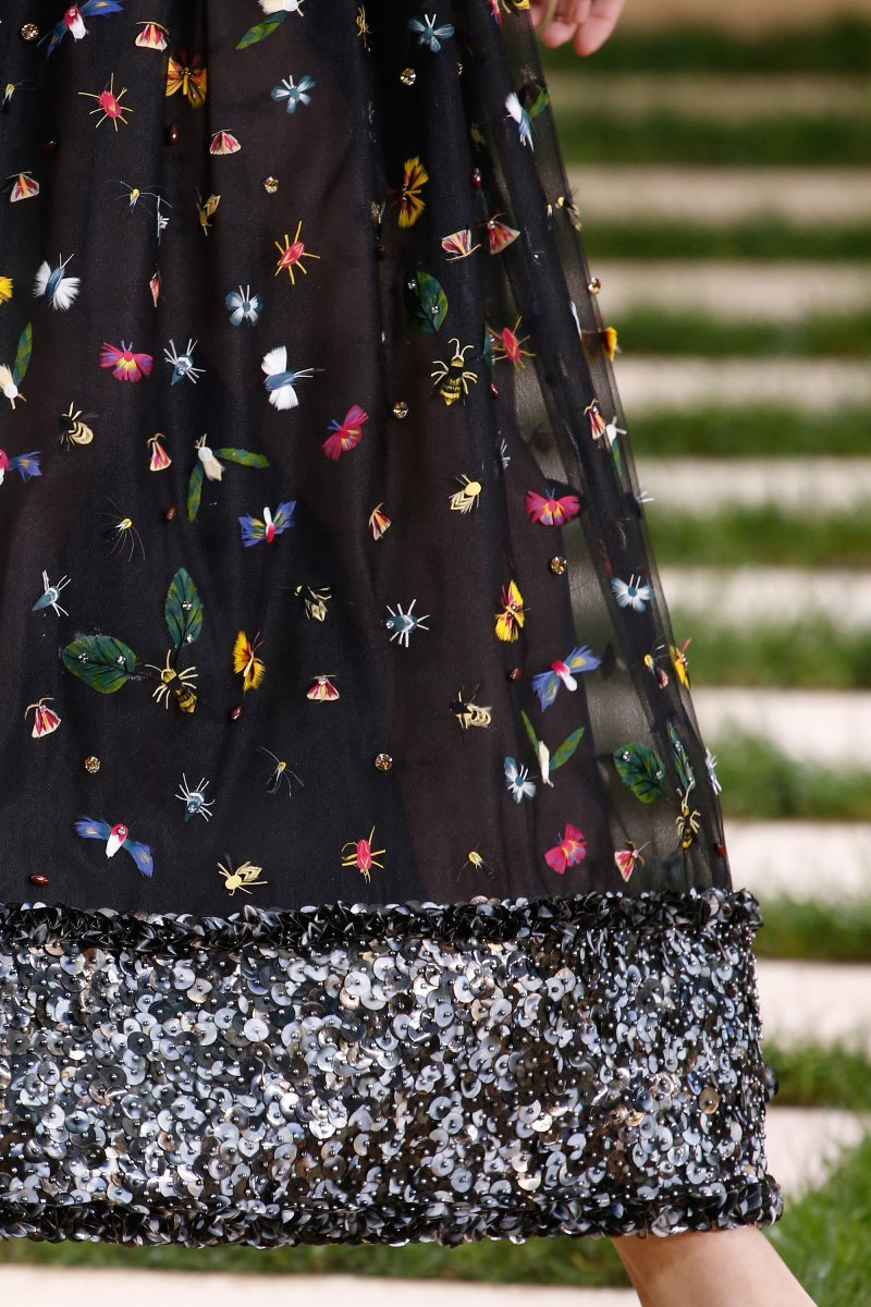 Chanel haute couture spring 2016 details insects style for Chanel haute couture price range